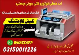Cash Counting with fake currency detection machine, safe high lockers