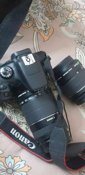 Canon camera.1300D.2lens. Bill charger urgently sale