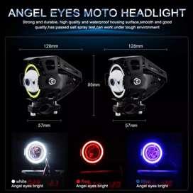 Lampu Tembak Motor ATV Transformer Projector Lens Headlight LED 3000 L