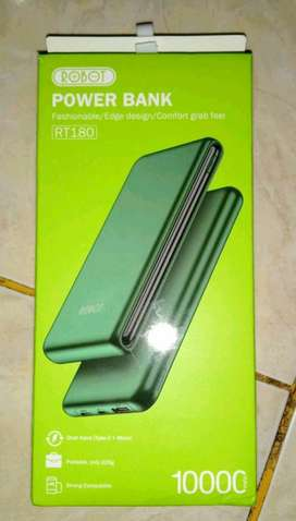 Powerbank 10.000 mAh ROBOT RT-180 Green Garansi Ori