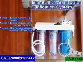 Very economical triple stage water filter