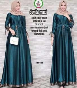 Baju gamis / dress maxi mewah harga murah cuma 100 ribuan