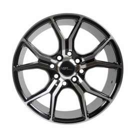 Velg Mobil Avanza - HSR Voodoo 59783 R15 Black Machine Face