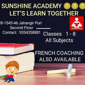 Tuition classes for 1-8 all subjects