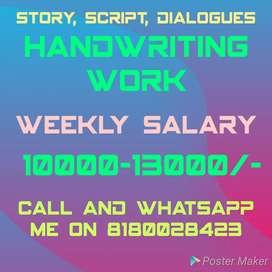 Script, dialogues writing work