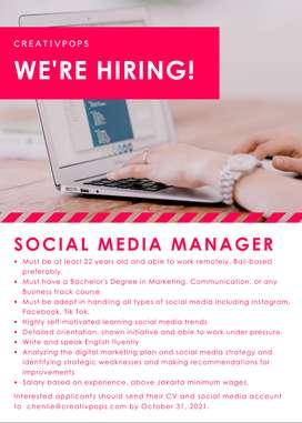 Social Media Manager for Digital Marketing Agency