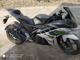 Yamaha r15 2016 model grey green colour