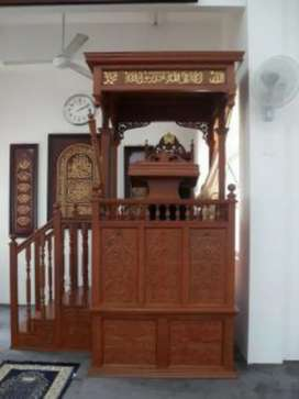 Mimbar masjid khutbah tangga samping