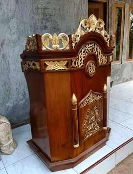 Mimbar masjid tipe podium ukiran 01
