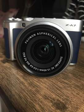 Fujifilm X-A7 24.2MP Mirrorless Camera with XC15-45 mm Lens Navy Blue