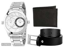 Men's Watches With Belt & Wallet