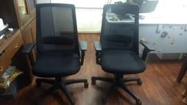 Featherlite office chairs-high back- 2 chairs