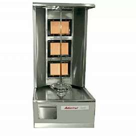 Fryer and shwarma heater + counter