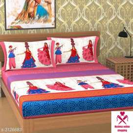 Cotton bed sheet with home delivery