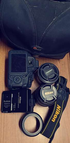 Nikon D3100 with two lenses