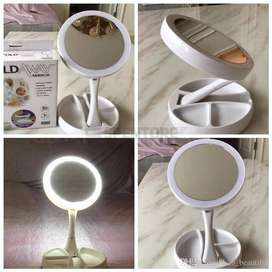 My Fold Away LED Makeup Mirror Double - sided Rotation-055