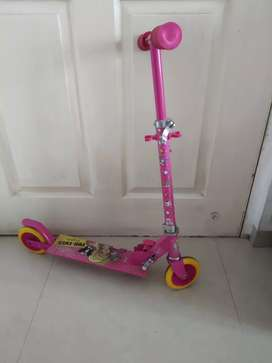 Barbie scooter cycle ,foldable