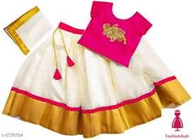 Traditional Girl's Lehenga Choli Dupatta