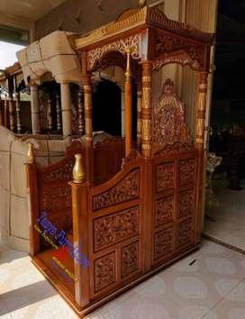 Mimbar masjid khutbah ukir jepara