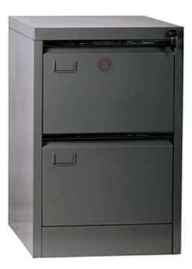 Filing Cabinet Besi 2 Laci VIP V-302 Rel Laci Dengan Roda Baja