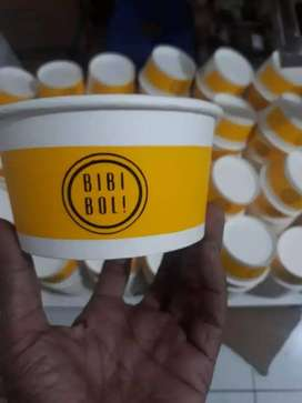Paper Bowl 650 ML custom logo sablon