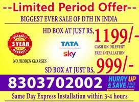 TATA SKY is available in India at lowest prices