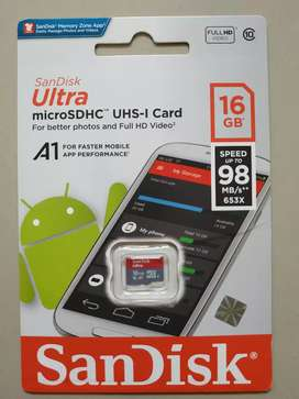 Micro SD sandisk Ultra A1 16gb