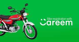 Need Driver For careem bike