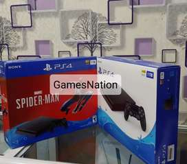 Ps4 console 500gb slim available with games with controllers