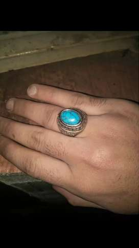 Irani Feroza stone with beautiful silver ring