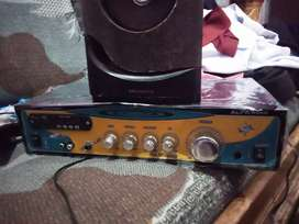 Amplifier and speaker and woofer 12inch ka ha