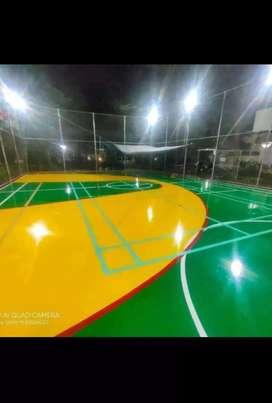 Jasa pembuatan lapangan tenis, futsal, badminton, workshop, dan basket