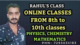 Online classes for physics, chemistry &maths.Upto class 10(state&cbse)