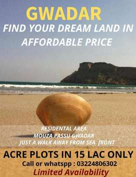 ACRE PLOTS IN 15 LAC ONLY AT GWADAR