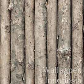 Wallpaper Dinding Murah - 5m2 - Kayu Coklat - De Cafe 503-1