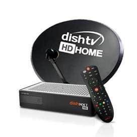 Dishtv HD with recording box with anteena