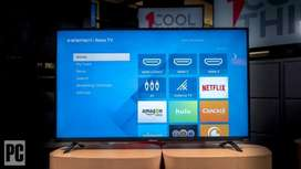 New 4k android SMART led tv updated os mirror cast with 1year warranty