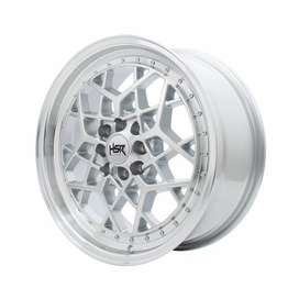 pelek keren HSR MYTH06 Ring 17x75 H8x100-1143 ET40 Silver Machine Lips