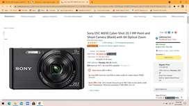 Sony DSC W830 Cyber-Shot  portable camera