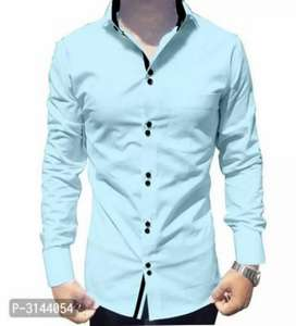 Cotton double button plain shirts