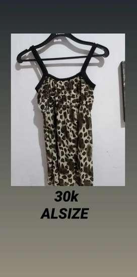 Preloved Dress leopard