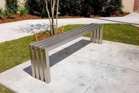 meja kursi stainless dan besi