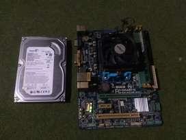 Paket amd A6 hdd 250gb ram 4gb dvdrw mobo gigabyte