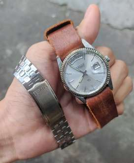 Jam tangan mido telux omega tissot president vintage jadul rare
