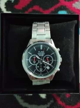 Jam tangan ALBA Chronograph 10 Bar AT 3B87X1