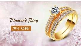 18ct gold plated ring beautifull and gracefull