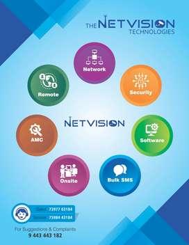 CCTV, Internet, Firewall, Biometric Attendance, Access Control, Alarms