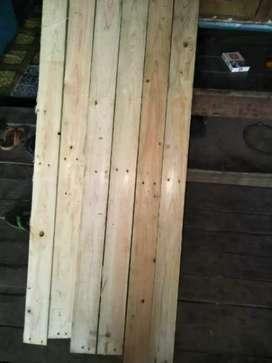Kayu pinus 100x7cm non serut kayu eks petikemas palet
