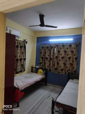 Double sharing ac room Pg accommodation rent in new town salt lake