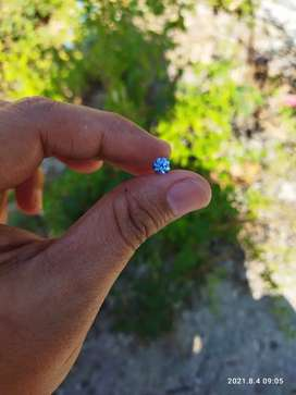 Royal blue diamond moissanite